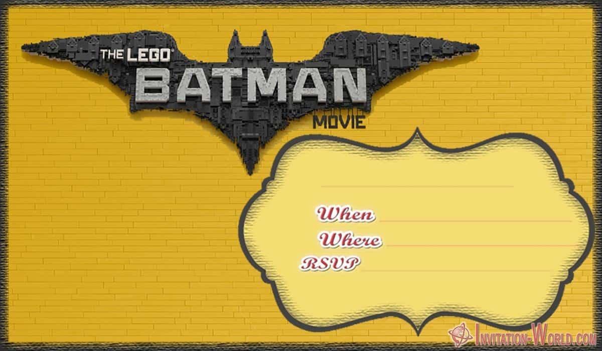 Free Printable Lego Batman Invitation - Free Printable Lego Batman Invitation