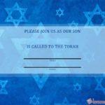 Printable Bar Mitzvah invitation card