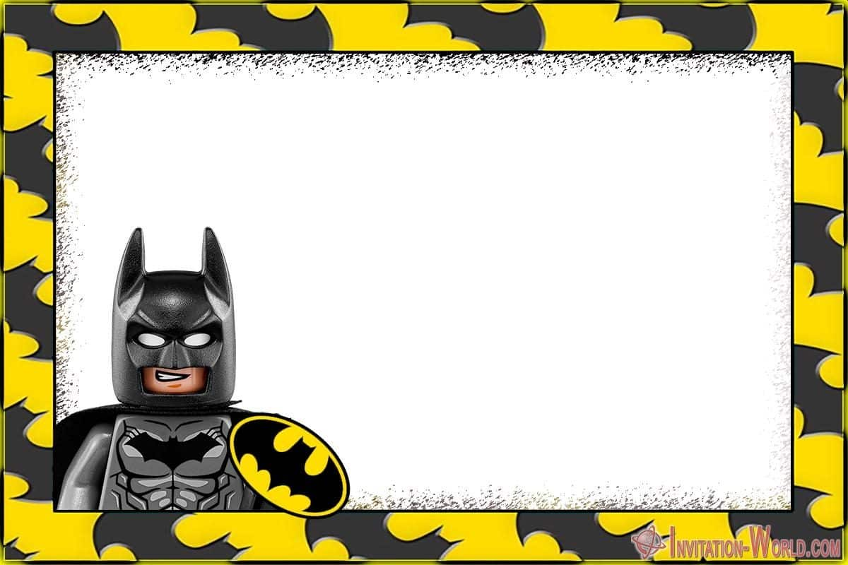 Printable Lego Batman Party Invitation 1200x800 - Free Printable Batman Invitation Templates
