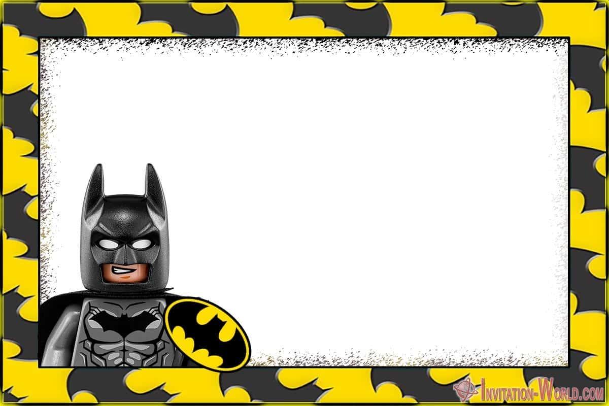 Printable Lego Batman Party Invitation - Printable Lego Batman Party Invitation