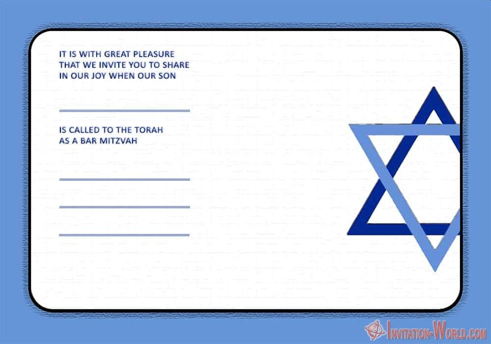 Unique Bar Mitzvah invitation - Bar Mitzvah Invitation Templates - Easy to customize