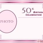 50 birthday invitation for her