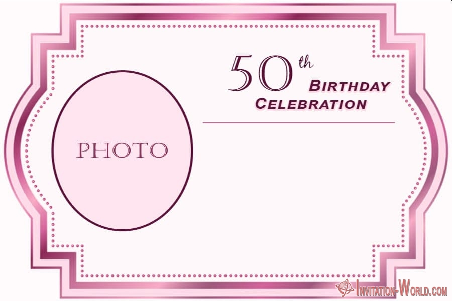 50 birthday invitation for her - 50 birthday invitation for her