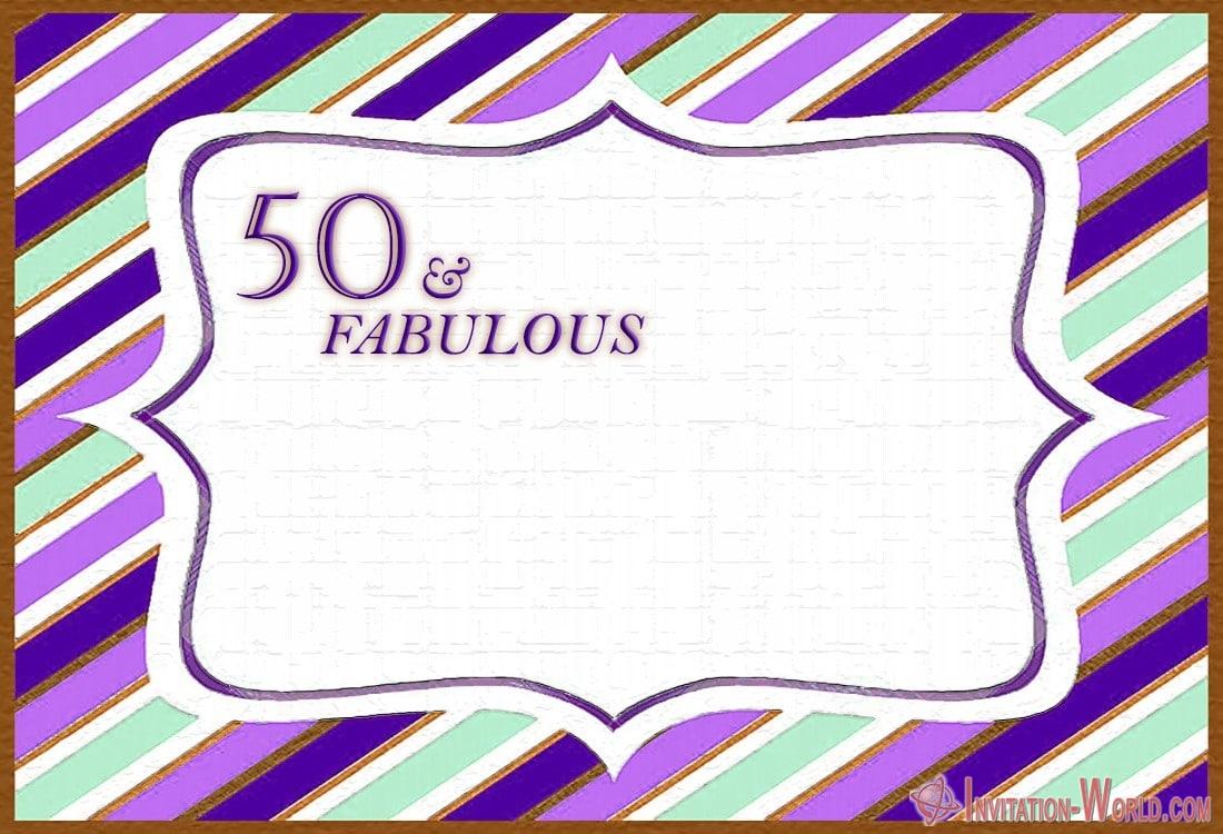 50 fabulous birthday invitation free - 50th Birthday Invitation Templates - FREE and PRINTABLE