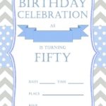 50th birthday invitation for him 150x150 - 50th birthday invitation free template