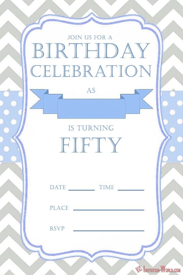 50th birthday invitation for him - 50th Birthday Invitation Templates - FREE and PRINTABLE