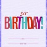 50th birthday invitation free template