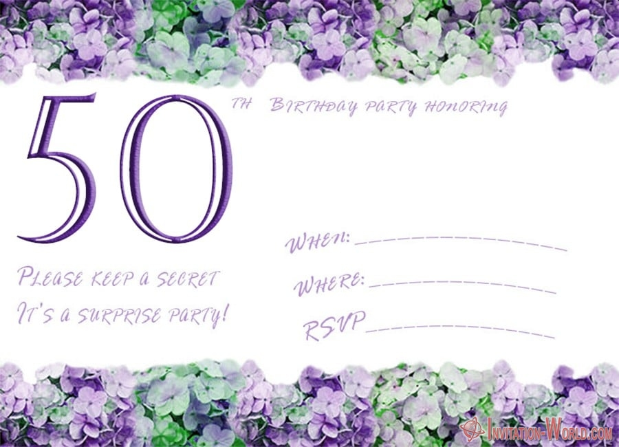 50th birthday invitation template - 50th Birthday Invitation Templates - FREE and PRINTABLE