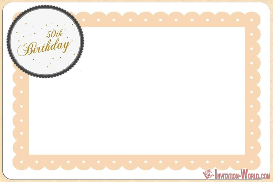 Free 50th birthday template - Free 50th birthday template