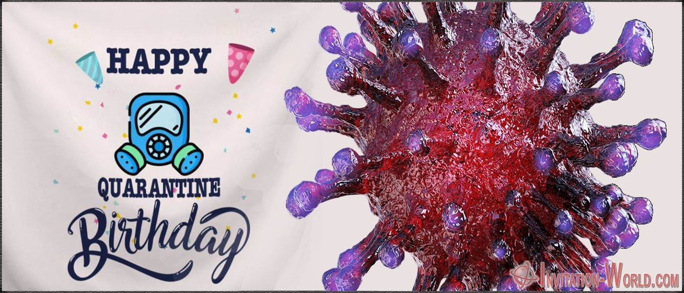 Coronavirus happy birthday card - Coronavirus Digital Invitation Templates