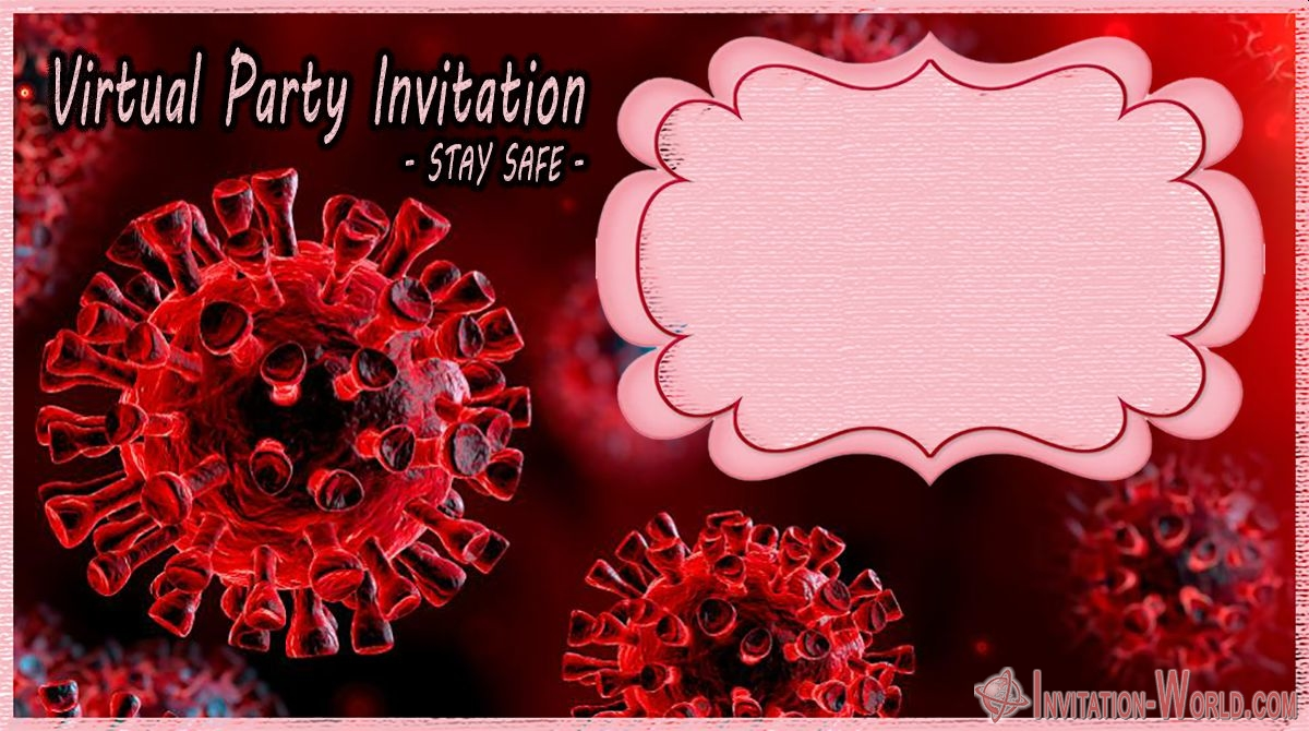 Free Printable Coronavirus virtual party digital invitation - Coronavirus Digital Invitation Templates
