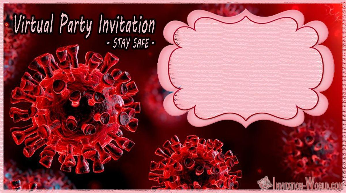 Free Printable Coronavirus virtual party digital invitation - Free Printable Coronavirus virtual party digital invitation