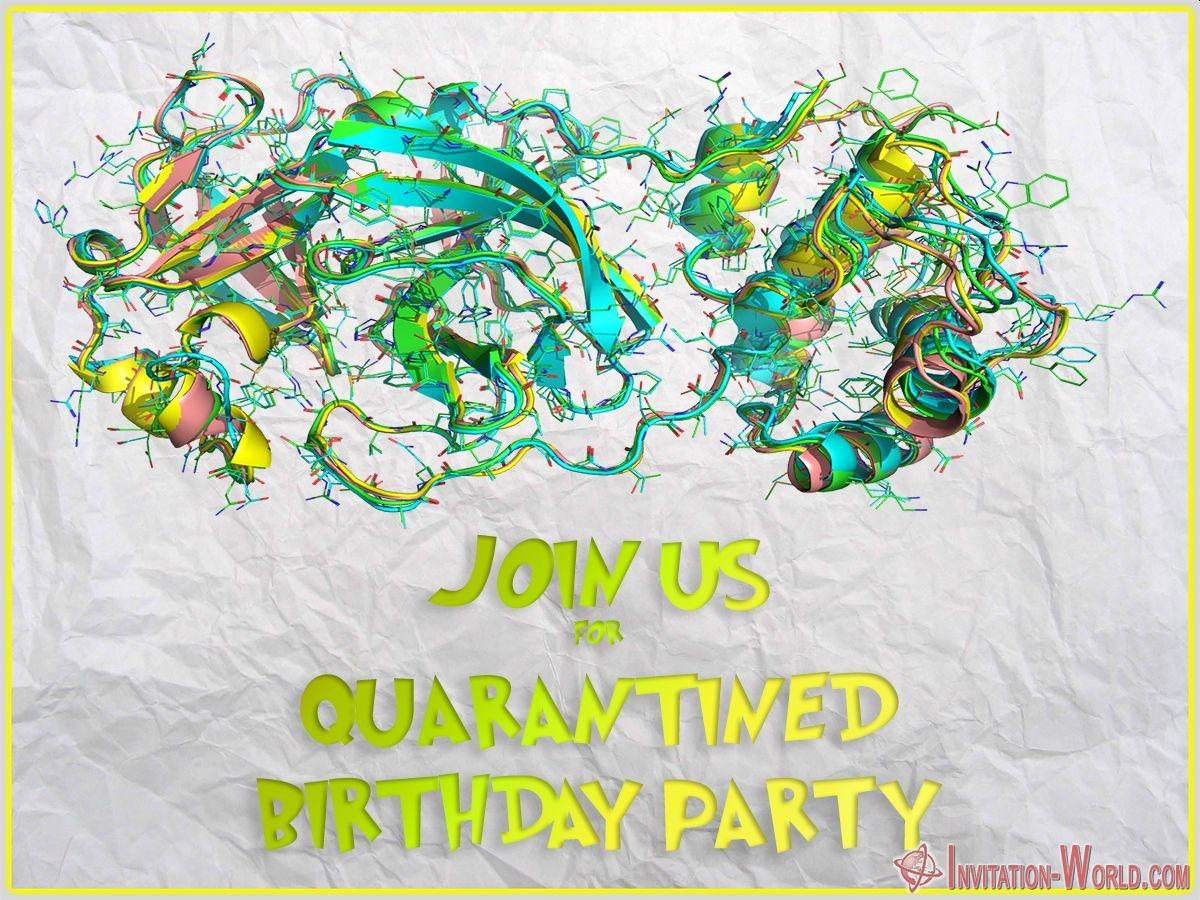 Quarantined Birthday Party - Coronavirus Digital Invitation Templates