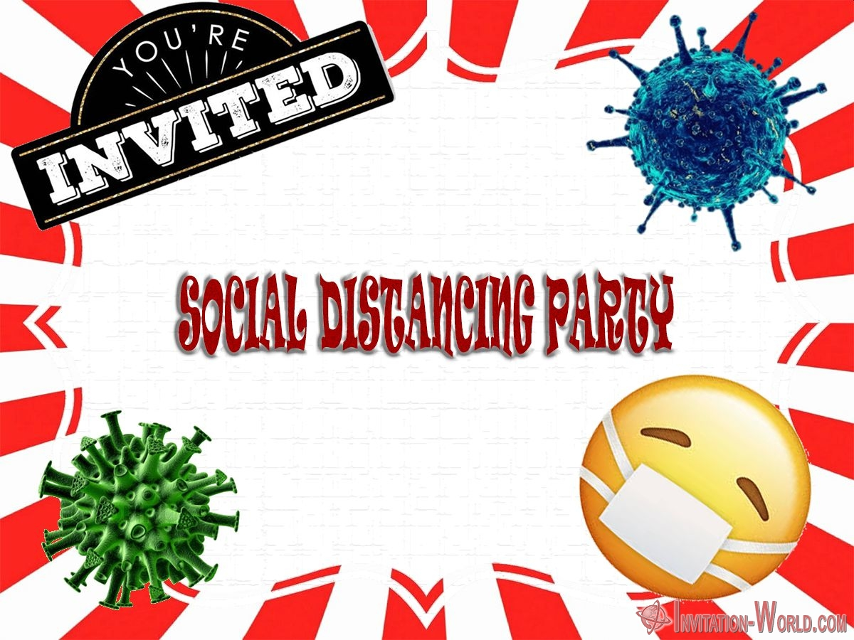 Social distancing party invitation - Social distancing party invitation