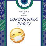 Virtual Coronavirus Party Invite 150x150 - Virus Free Printable Invitation Template
